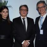 Diana Rocha, Arialdo Pinho, secretário de Turismo do Ceará, e Marco Ferraz, presidente da CLIA