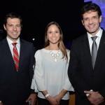 Eduardo Zorzanello, do Festuris, Renata Carrasco, secretária de Turismo de Caxias do Sul, e Marcelo Álvaro, futuro Ministro do Turismo