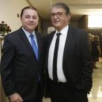 Eliseu Barros, presidente da ABIH-CE, e Arialdo Pinho, secretário de Turismo do Ceará