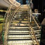 Escada padrão MSC de pedras Svarovski