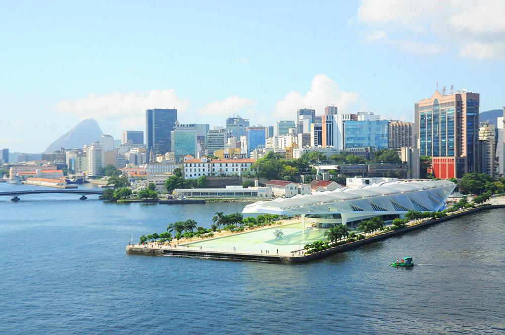 Esta é a vista que os passageiros do MSC Seaview tiveram com a chegada ao Rio de Janeiro