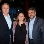 Frederico Levy, da Interpoint, Bruna Basile, da 55 Destinos, e Marcelo Patelli, da CVC Corp