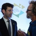 Futuro ministro do Turismo, Marcelo Álvaro, e Rafael Torres, do M&E