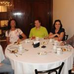 Gabriela Moura e Sabina Lux, da Lux Tour, Gilmar Heck e Rosete Lazkani, da Alvimar Turismo, e Nelson Ivan, da Hot Star Turismo