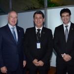 Herculano Passos, da Frentur, Rogério Siqueira, presidente do Beto Carrero World, e Marcelo Álvaro, futuro ministro do Turismo