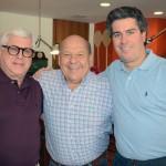 José Roberto Trinca, da American Airlines, entre Juarez Cintra Filho e Juarez Cintra Neto