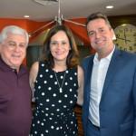 Juarez Cintra Filho, da Ancoradouro, com Sandra Passetto, e Gleyson Ranieri, da Air Canada