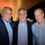 Kurt Kaufman, da Genesis Tours, Sylvio Ferraz, da CVC Corp, e Arnaldo Franken, da Diversa Turismo
