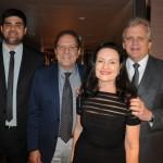 Leonardo Dias e Kid Stadler, da Turisan Turismo, com Edmar Bull, da Copastur, e sua esposa Maria Celestre Andrade