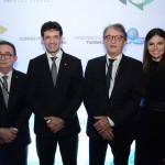 Manoel Linhares, da ABIH Nacional, Marcelo Álvaro, futuro ministro do Turismo, Arialdo Pinho, secretário de Turismo do Ceará, e Diana Rocha