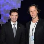 Marcelo Álvaro Antônio, futuro ministro do Turismo, e Bruno Reis, do RIOgaleão