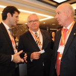 Marcelo Álvaro, ministro do Turismo, Roy Taylor, do M&E, e Herculano Passos, da Frentur