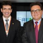 Marcelo Álvaro, ministro do Turismo no governo de Jair Bolsonaro, e Vinicius Lummertz, ministro do Turismo no governo atual de Michel Temer