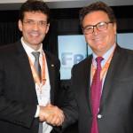 Marcelo Alvaro, futuro ministro do Turismo, e Vinicius Lummertz, atual ministro do Turismo