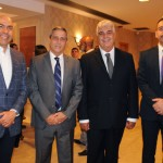 Marcelo Alves, da Riotur, General Braga Netto, interventor, Alfredo Lopes, presidente da ABIH-RJ, e Richard Nunes, secretário de Segurança do RJ