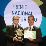 Marcelo Queiroz, do Projeto Verena, Senac RN, e Paulo Solmucci, da Abrasel