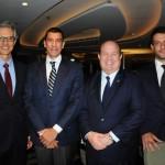 Marco Ferraz, da Clia Brasil, André de Almeida, da Almeida Law, Charles Darr, da MSC, e Leonardo Palhares, da Almeida Law