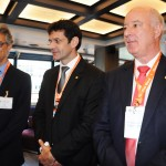 Marco Ferraz, presidente da Clia Brasil, Marcelo Álvaro, futuro ministro do Turismo, e Herculano Passos, da Frentur
