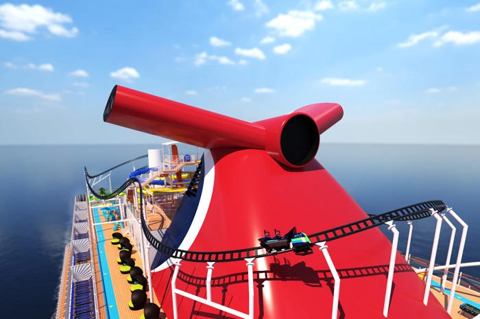 Mardi Gras terá a primeira montanha-russa em um navio cruzeiro, a Bolt (Foto: divulgação)