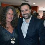 Mari Masgrau, do M&E, com Emerson Sanglard, da Copa Airlines