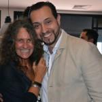 Mari Masgrau, do M&E, e Diogenes Toloni, da Aerolíneas Argentinas
