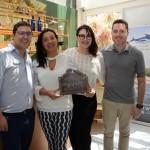 Martin Diniz, do SeaWorld, com Cristiane Jayme, Amanda de Rousset e Renato Picchi, da Trend