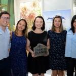 Martin Diniz e Aline Anzzelotti, do SeaWorld, com Bruna Pereira, Mariana Mello e Jéssika Bono, da Decolar.com