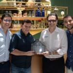 Martin Diniz e Mauricio Alexandre, do SeaWorld, com Rogério Mari e Marcus Soares, da Virazóm Viagens