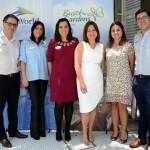 Mauricio Alexandre, Aline Anzzelotti,  Marjorie Schroeder, Ana Maria Donato, Juliana Bordin e Martin Diniz, do SeaWorld