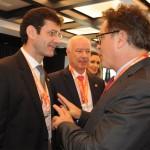 O encontro do atual ministro, Vinicius Lummertz, com o futuro ministro do Turismo, Marcelo Álvaro