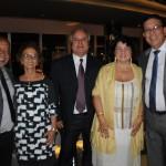 Osmar Souza, da Sealink, com esposa Marlucia Souza, Gilvan Delgado, da Aqcua Tur, Celma Rayol e Newton Santos, da MSC
