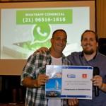 Marcelo Andrade, diretor da Transmundi, entregou o prêmio de uma viagem para os Emirados Árabes para o campeão de vendas de 2018