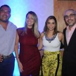 Pedro Coelho, da Best Day, Joana Silva e Thainara Lima, da CVC, e Ronnie Arosa, da Rede Rio Hotéis