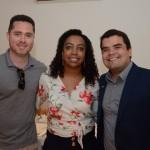Renato Picchi, da Trend, Vilmara Souza, da Agaxtur, e Andre Almeida, do Visit Orlando