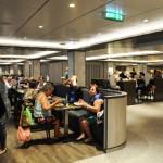 Restaurante MarketPlace é um dos bufês a bordo do Seaview