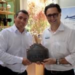 Ricardo Bezerra, da Azul Viagens, e Mauricio Alexandre, do SeaWorld
