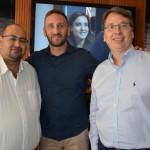 Robson Camargo, da Ancoradouro, Fabio Marasca, da South African, e Ricardo Lindgton, do E-Facil Plus