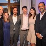 Ronnie Arosa, da Rede Rio Hotéis, Mariana Mendonça, Pedro Botelho e Renato Dias, do Pestana, com Maria Flávia e Ary Comar, do ibis
