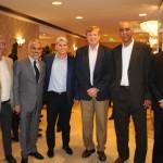 Salvador Perrella, Julio Correa, Marcio Almeida, Sergio Alemão e Edson Campelo, do Comitê dos Esportes Master, e Lucio Macedo, VP da Riotur