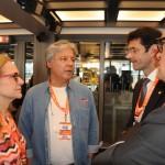 Sonia Chami, presidente do RioCVB, Márcio Santiago, presidente do Brasil CVB, Marcelo Álvaro, futuro ministro do Turismo, e Vinicius Lummertz, atual ministro do Turismo