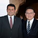 Tufi Michreff Neto, secretário de Turismo de SC, e Luiz Fernando Moraes, da Cunha Vaz Brasil