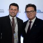 Tufi Michreff Neto, secretário de Turismo de SC, e Vinicius Lummertzs, ministro do Turismo