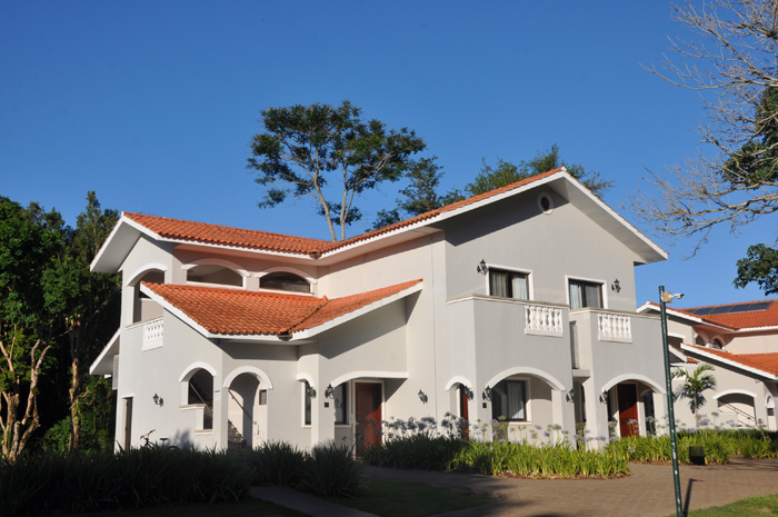 Uma das casas do resort, onde ficam os quartos