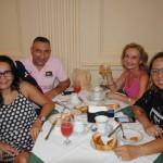 Valéria Charret e Renê Gomes, da Promove, Tania Magali, da TMMP, e Rita de Cássia, da Bless Viagens