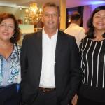 Vania Quinhões, do Riale Hotéis, com Ricardo Lima e Lucia Pinheiro, do Praia Ipanema Hotel