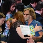 Vinicius Lummertzs, Magda Nassar, Rafael Torres e Manoel Linhares, durante o Prêmio Nacional do Turismo