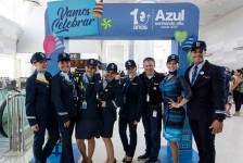 Azul completa 10 anos de operações com festa especial em Campinas
