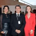 katia Leães, Rogério Siqueira, presidente, e Caroline