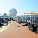 Área do Yacht Club é confortável e ampla