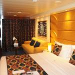 Cabine do Yacht Club conta com todo conforto e aconchegância esperada pelo perfil do hóspede que embarca num cruzeiro particular como este